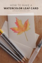 How to Make a Watercolor Leaf Card