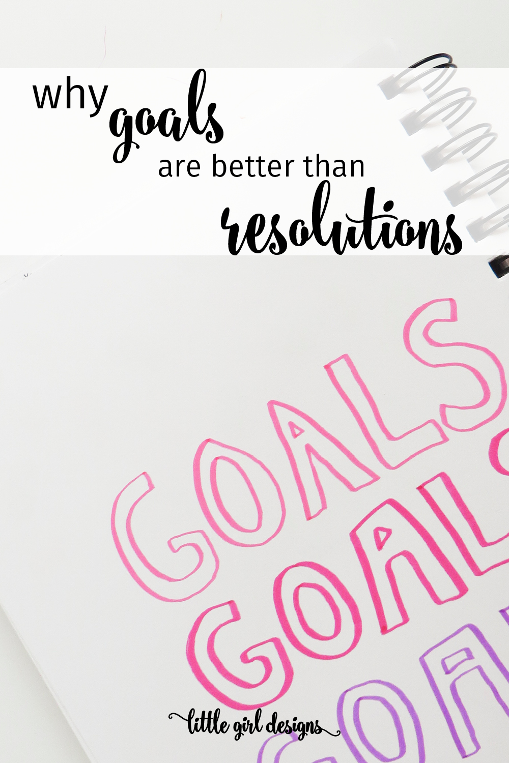 How to Make Goals Instead of Resolutions for the new year! You'll be much happier when you make doable (and trackable) goals rather than just wishing for change. Here are some tips.