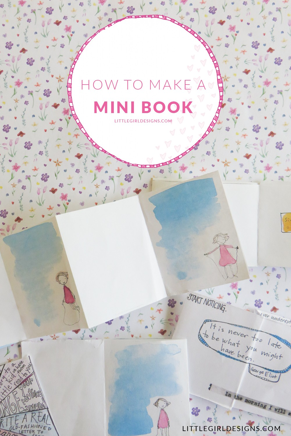 How to Make a Mini Book - making a mini accordion book isn't that difficult. I'll show how to make one today @littlegirldesigns.com