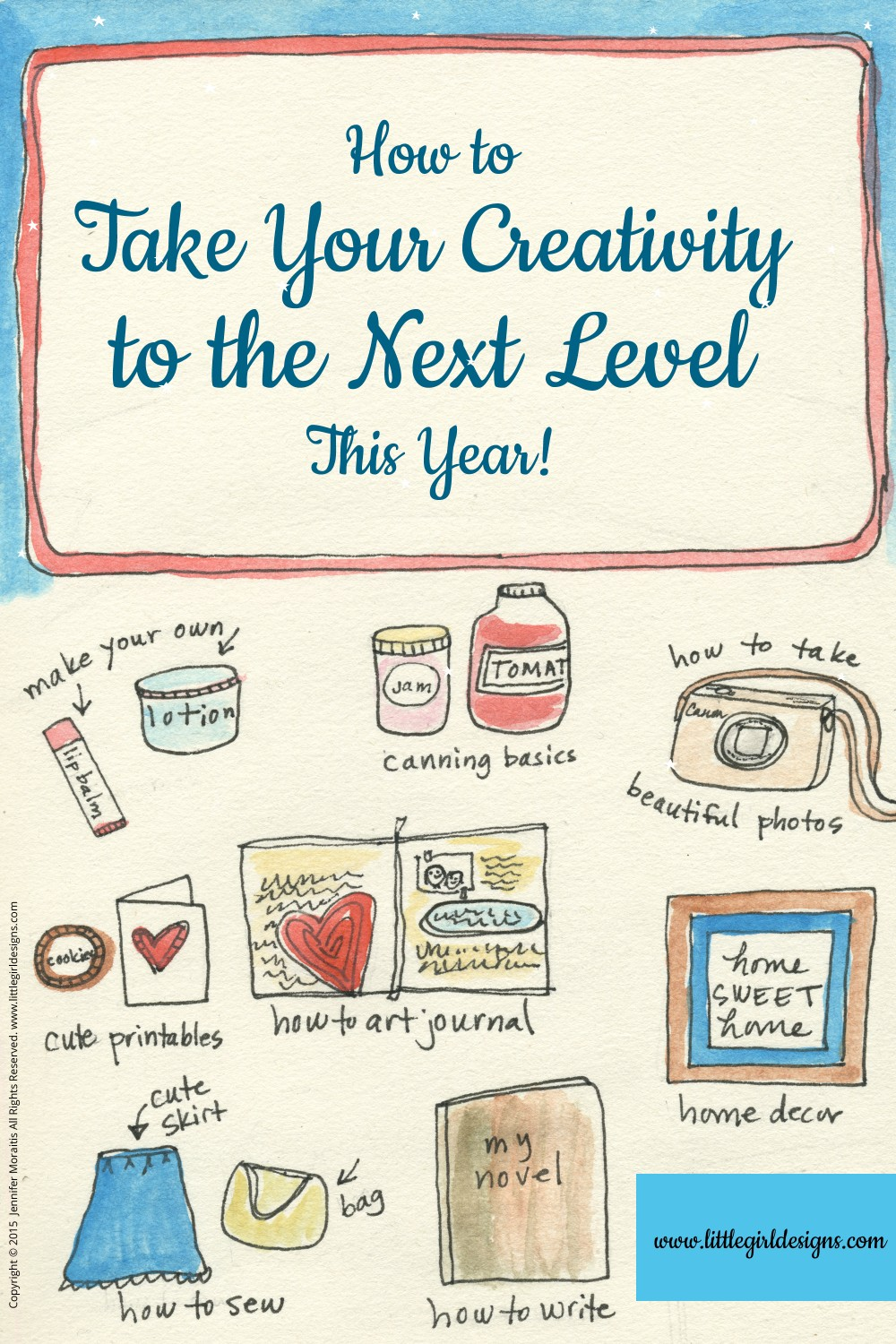 How to Take Your Creativity to the Next Level This Year - I'll show you the one resource that is going to explode your creativity this year! Read more @littlegirldesigns.com.