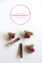 How to Make a Rosebud Barrette