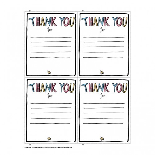 Thank You Printable Little Girl Designs