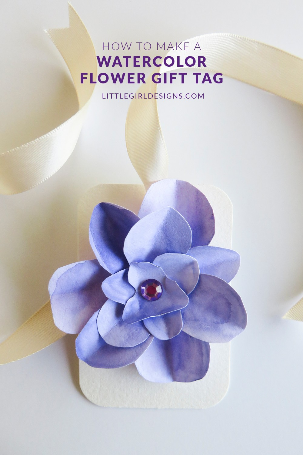 Wedding Gift Tag Maker : How to Make a Watercolor Flower Gift Tag - Guest post on CreativeKKids ...
