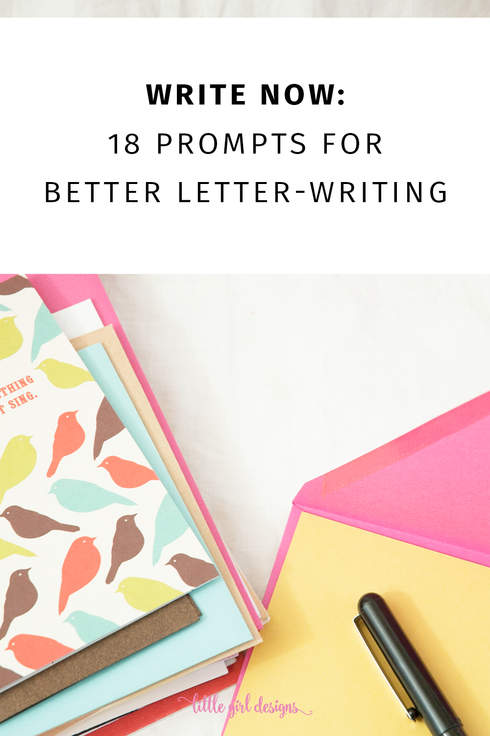 write now 18 letter writing prompts