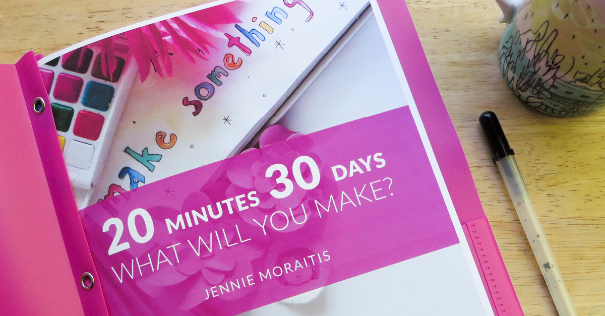 Join the #2030make challenge! I'm busy, you're busy, we're all busy...BUT that shouldn't keep us from creating, should it? Join me on this 30 day challenge where we take 20 minutes a day to work on our projects. Free mini-workbook, email encouragement, and community included! @littlegirldesigns.com