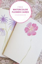 Free Watercolor Flower Cards For You!