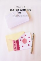 How to Make a Portable Letter Writing Kit