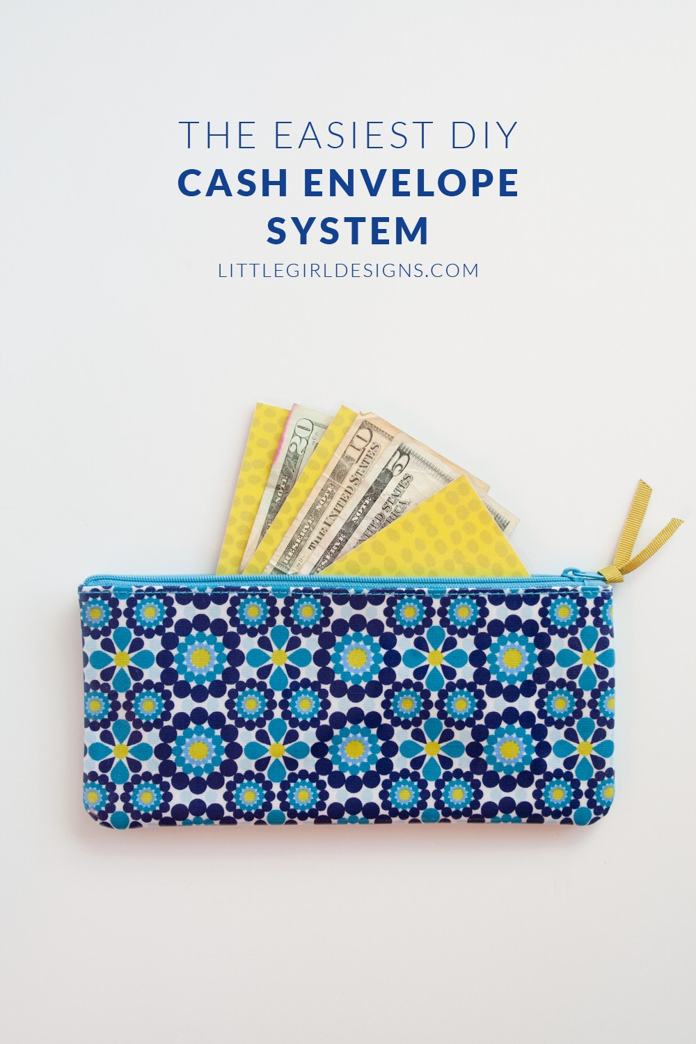 DIY Cash Envelope System - If you're starting out on the journey of using cash envelopes, you might be using several different business sized envelopes to hold your cash. That's fine until the envelopes get worn out or you tire of hauling around 15 envelopes wherever you go. I created this super easy cash envelope system after seeing my mom's system and LOVE it. So easy to make even a non-crafter can do it! :) @littlegirldesigns.com
