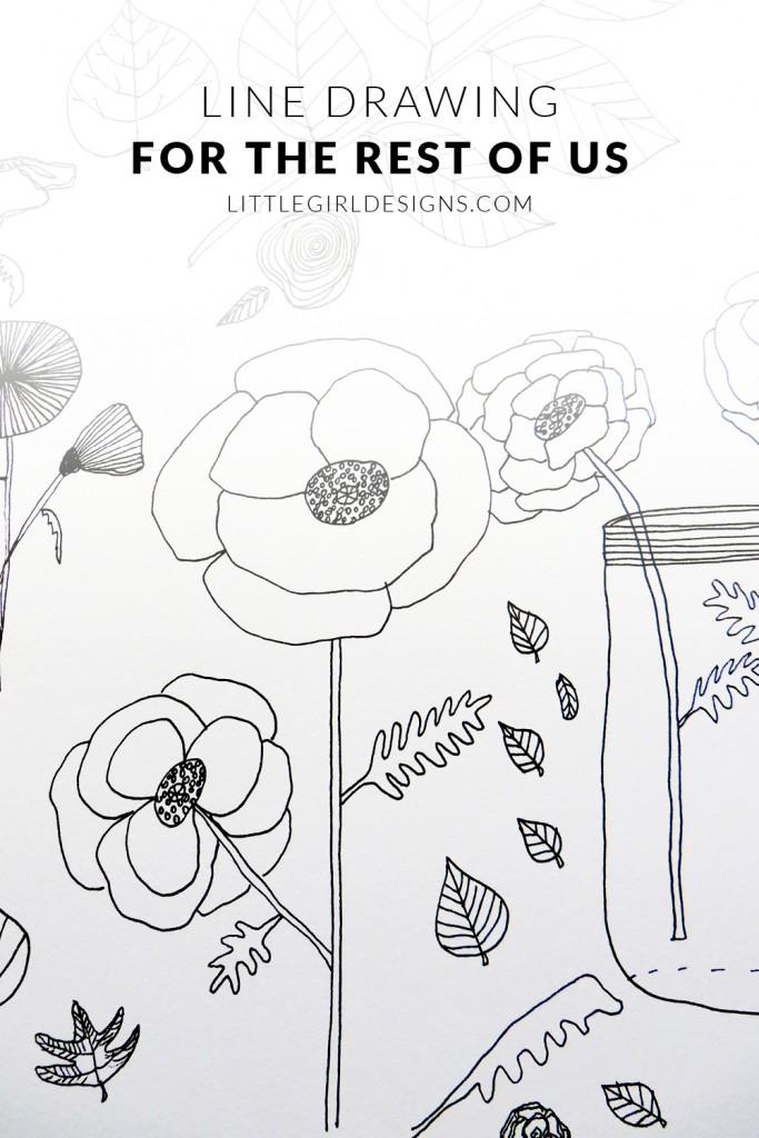Line Drawing Little Girl : Line drawing for the rest of us little girl designs