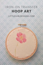 Iron-on Transfer Hoop Art