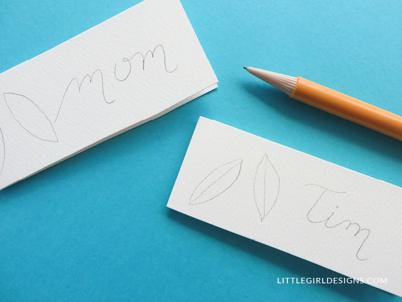 How to Make Name Cards (With a Secret Message Inside)