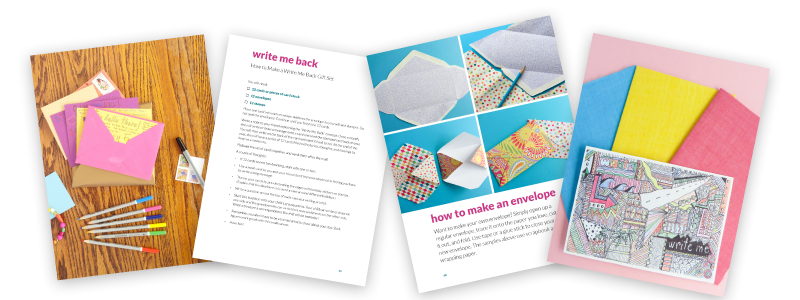 Bring Back Snail Mail with this amazing guide! Get inspired with pages of prompts and ideas of what to send in the mail. Learn how to make fun cards with the tutorial section. And don't forget the stationery! Included are pages of printable airmail envelopes, cards, and postcards which are just waiting for you to print and fill out. So fun!