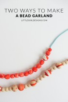 Two Ways to Make a Bead Garland