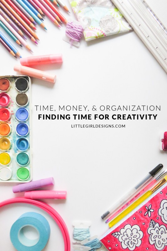 Time, Money, & Organization - Finding Time - In this podcast episode, I talk about one of our greatest crafting and creativity frustrations: lack of time. I share a mindset shift that has helped me as well as several resources that have been helpful in keeping my creative time a priority. via littlegirldesigns.com
