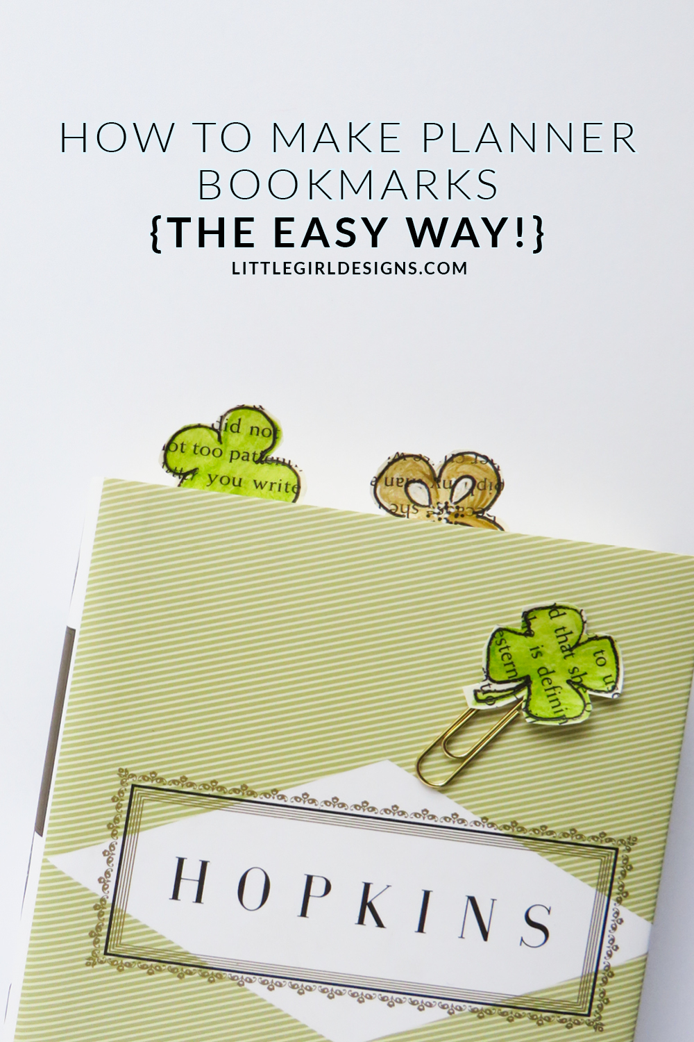 How to make planner bookmarks the easy way little How to make a simple bookmark