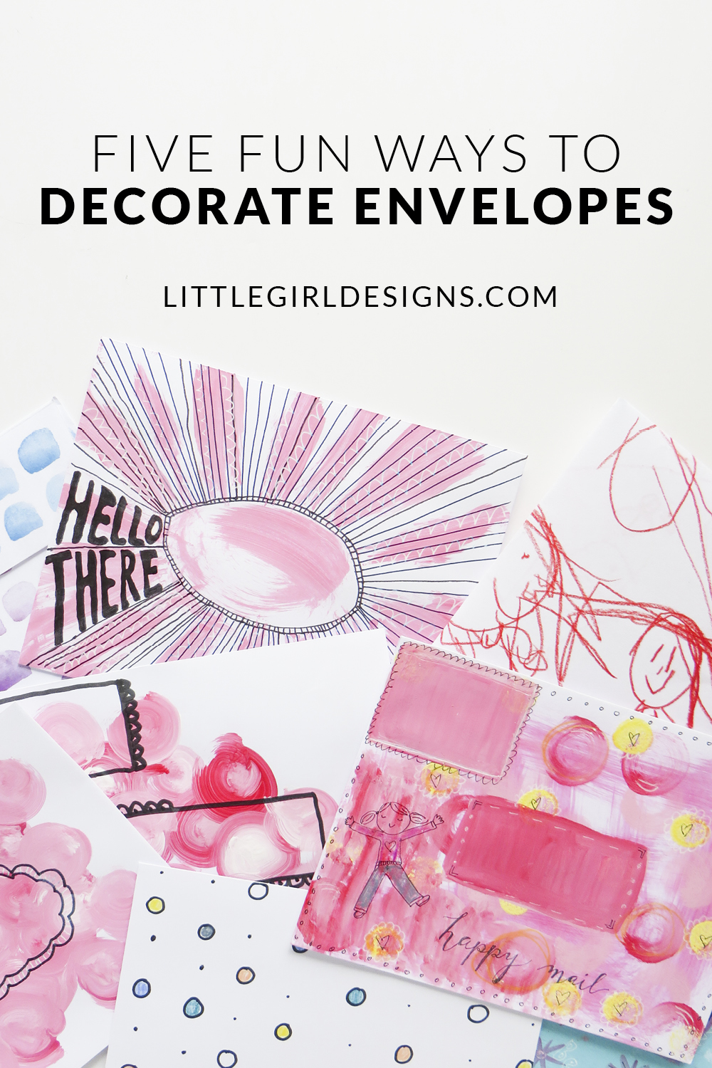 how to decorate open when envelopes
