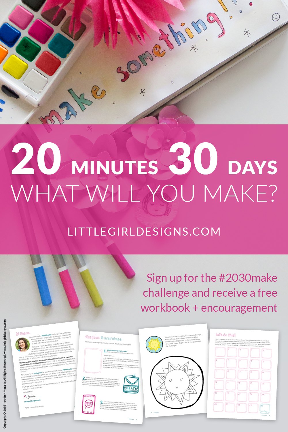 Join the #2030make challenge! I'm busy, you're busy, we're all busy...BUT that shouldn't keep us from creating, should it? Join me on this 30 day challenge where we take 20 minutes a day to work on our projects. Free *updated* workbook and a weekly email on creativity to encourage you included!