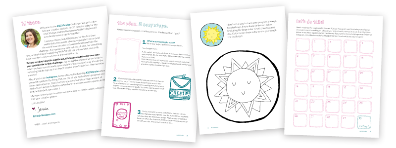 Join the #2030make challenge and you'll receive a free *updated* workbook, a five week email series on creativity (for free!), and the fun of being able to work on your creative projects. Whoohoo!