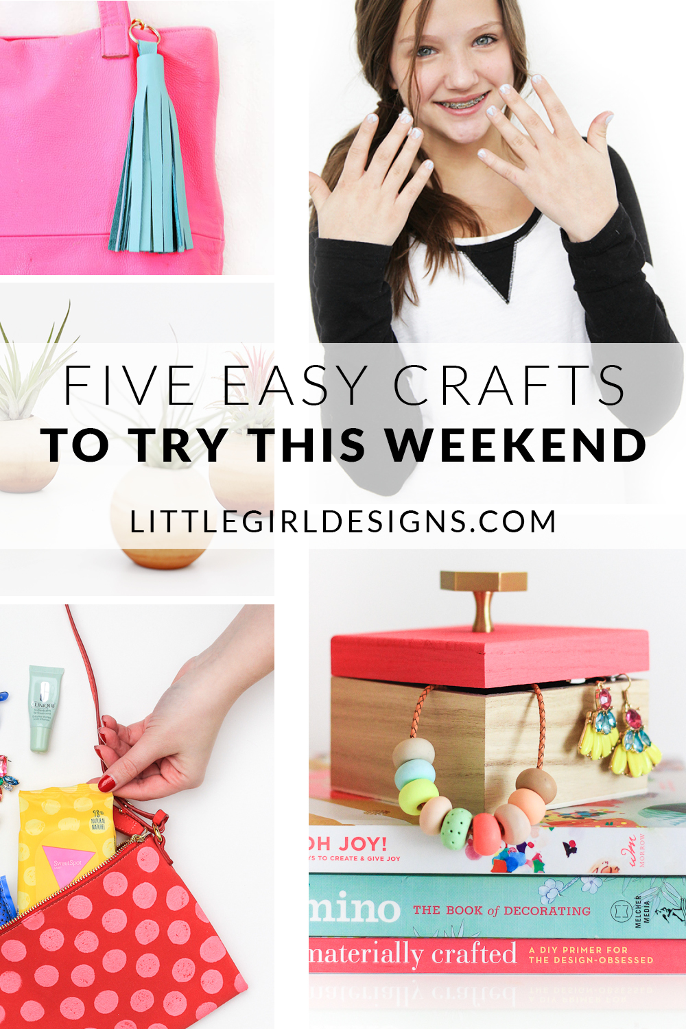 Check out these five easy (and super cute!) crafts that you can make this weekend. These are perfect #2030make projects and would also make great gifts (for yourself or your BFF)! :)