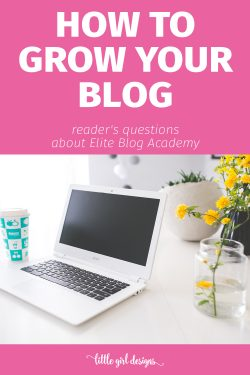 I had a lot of questions about Elite Blog Academy, and this blogger does a good job in explaining everything. It sounds like an amazing course! Christmas present, anyone? :)