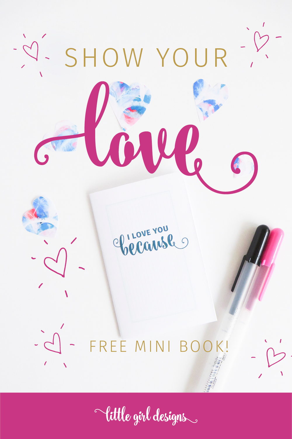 Download this free Valentine's Day mini book and give it to someone you LOVE! :) Perfect for Valentine's Day, birthdays, anniversaries, or any time you want to share your love.