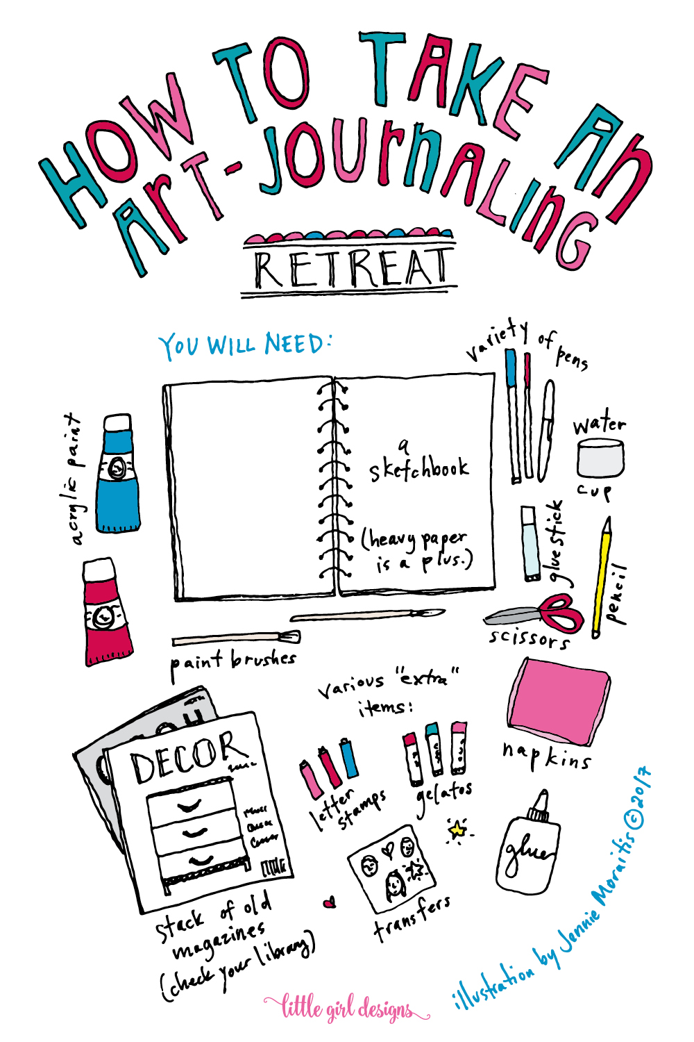 Learn how to create your own art-journaling retreat!