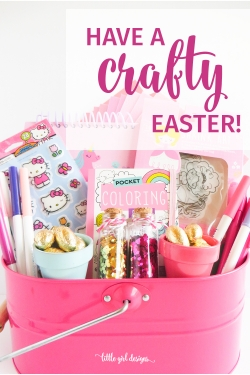 My little girl LOVED this idea! I read this post and got inspired to create a craft-themed Easter basket for her which made her so happy. She's really into crafts for kids and easy DIY projects right now. My little artist. :)