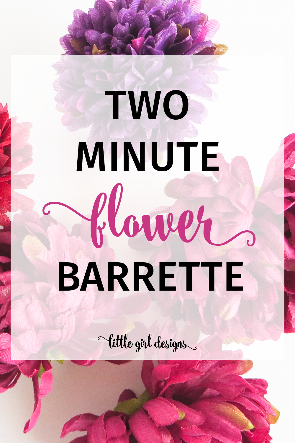 So cute! And I love how easy these were to make. I wanted to DIY a barrette for my flower girl for my wedding and this one only took me a couple of minutes to make. Yes!