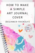 How to Make a Simple Art Journal Cover