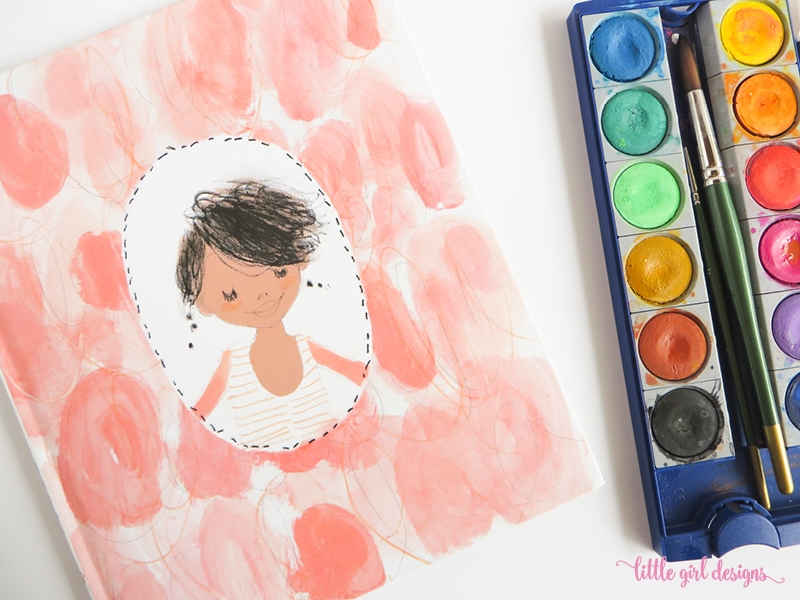 "Love Julia Denos' illustrations for ""I Had a Favorite Dress""! This dress card tutorial is a homage to her work."
