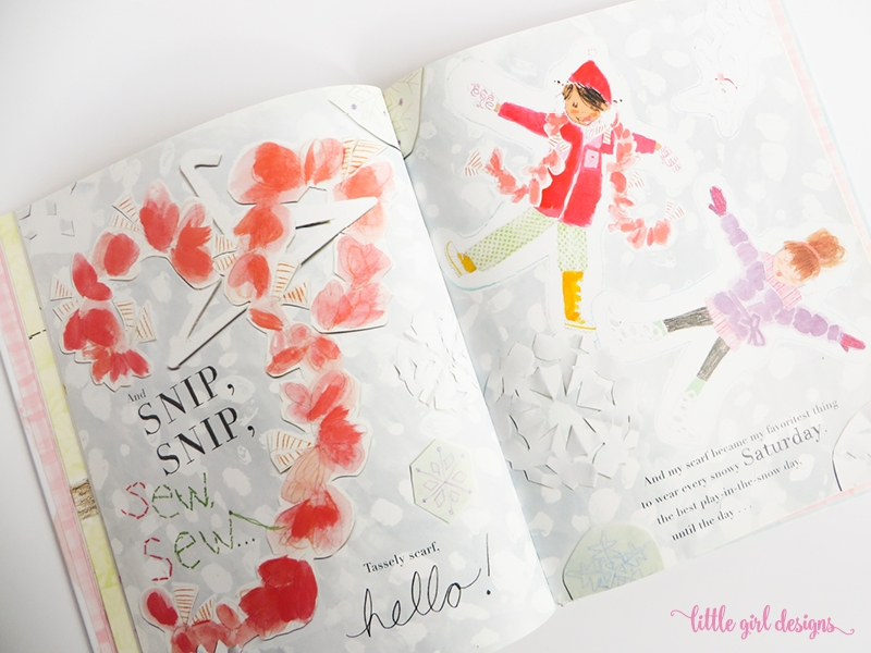 Here's a sweet card tutorial for one of our favorite books. A mom teaches her little girl how to be resourceful by creating new clothing items out of an old (but favorite) dress. LOVE this book!