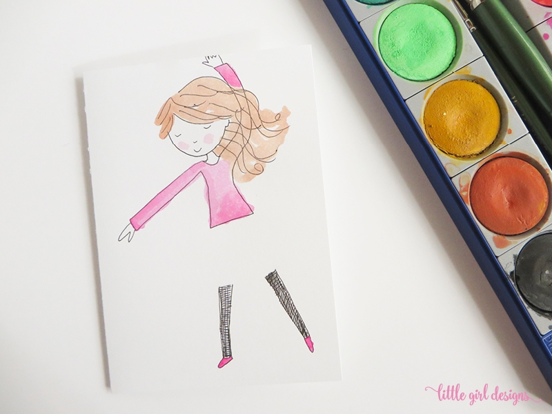 Here's a dress card idea you can use to make a unique card for a little girl.