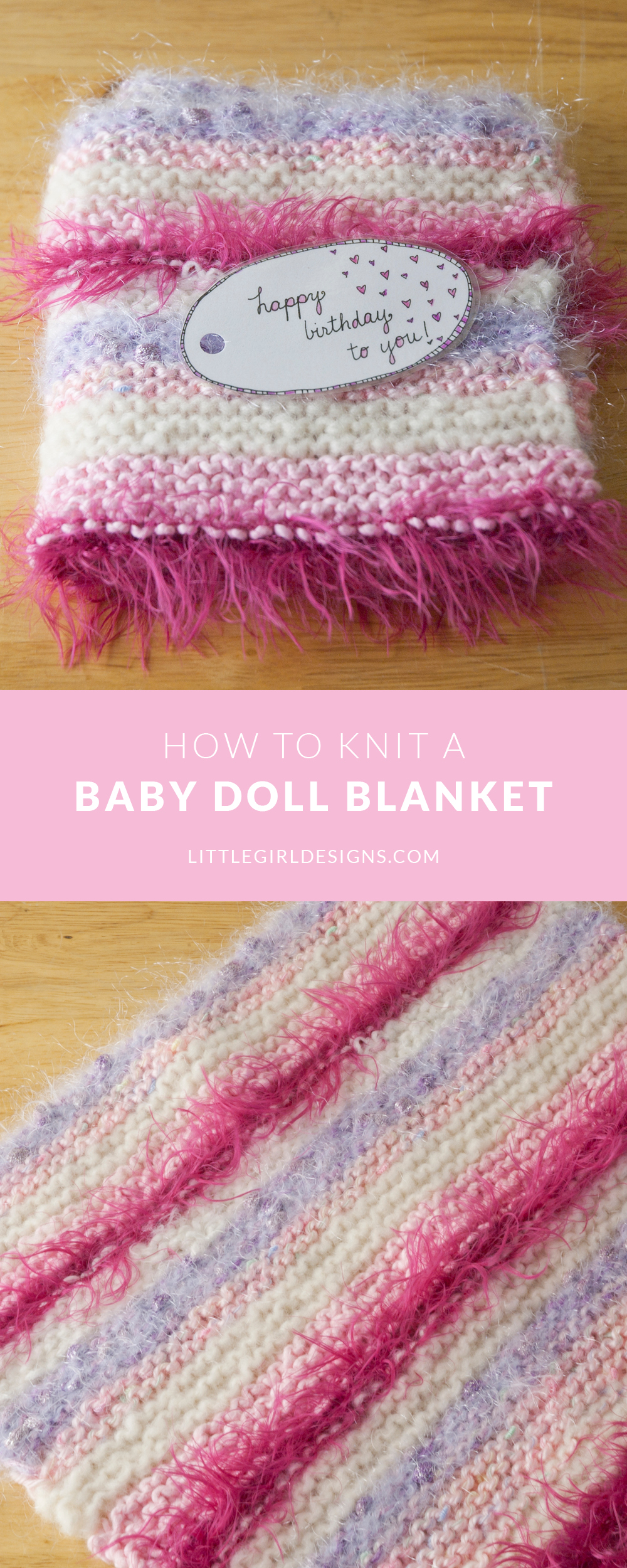 Knitting Doll How To Use : How to knit a simple baby doll blanket jennie moraitis