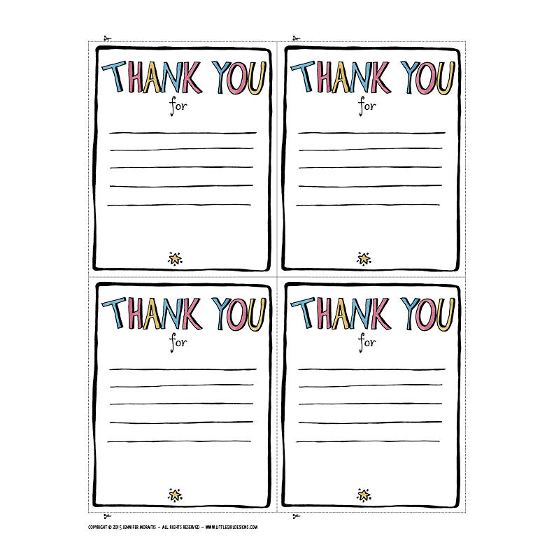 graphic relating to Printable Thank You Cards for Students titled Thank Yourself Printable - Jennie Moraitis