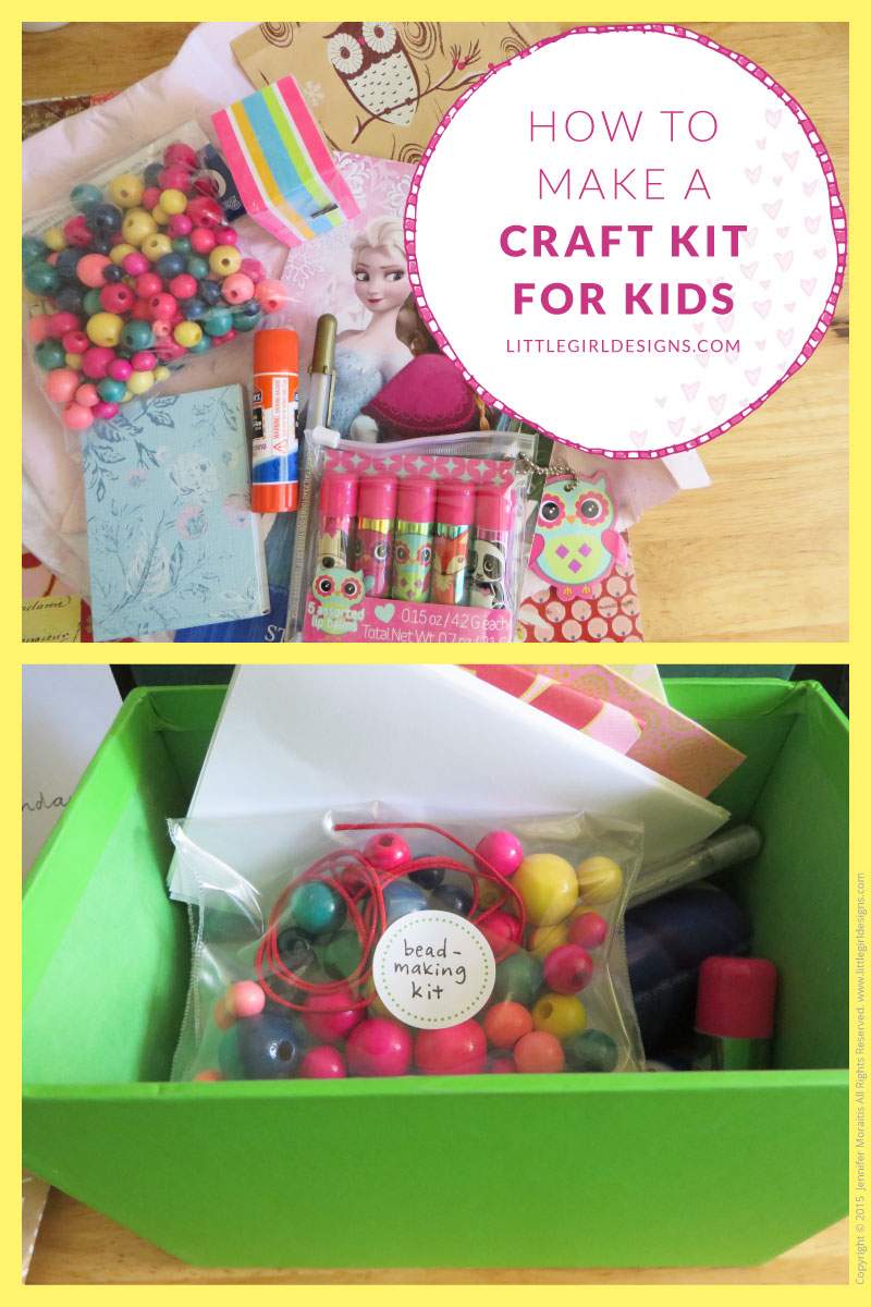 How to make a craft kit for kids jennie moraitis for How to make christmas crafts for gifts