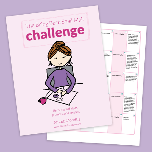 Bring Back Snail Mail Challenge - Join us for a fun challenge that will bring back snail mail into your life. Get prompts, a free calendar, and encouragement! You're going to love this! (This challenge is especially created for those of us who are super busy--you CAN do this!) via littlegirldesigns.com