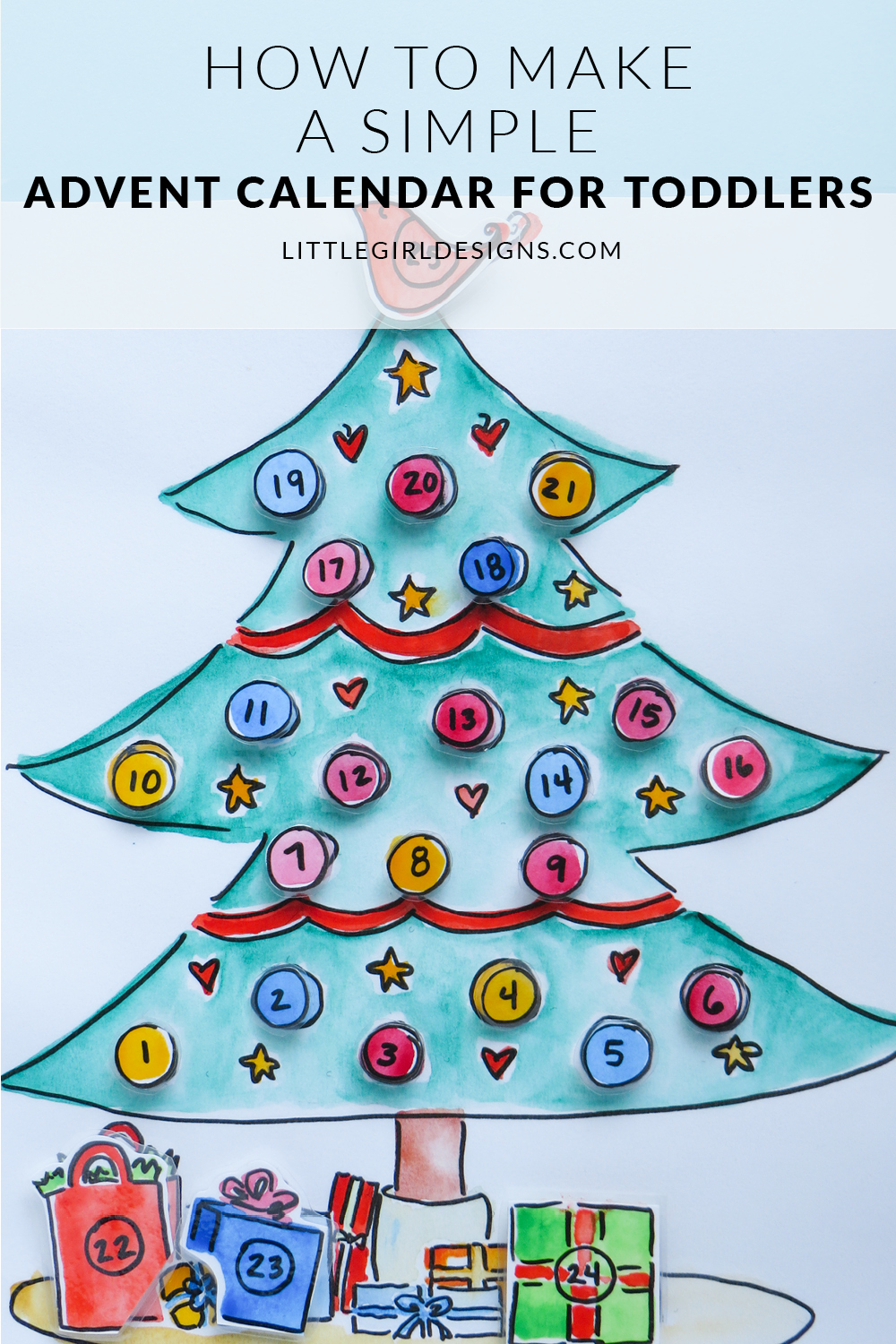 Advent Calendar Ideas Toddlers : How to make a simple advent calendar for toddlers jennie
